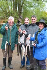 A family outing rewarded with some good fish from Exe Valley